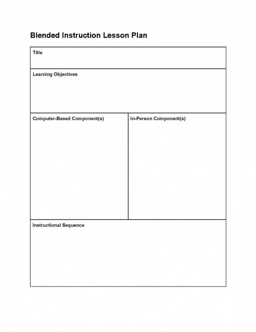 001 Fearsome Editable Lesson Plan Template Elementary Example 868