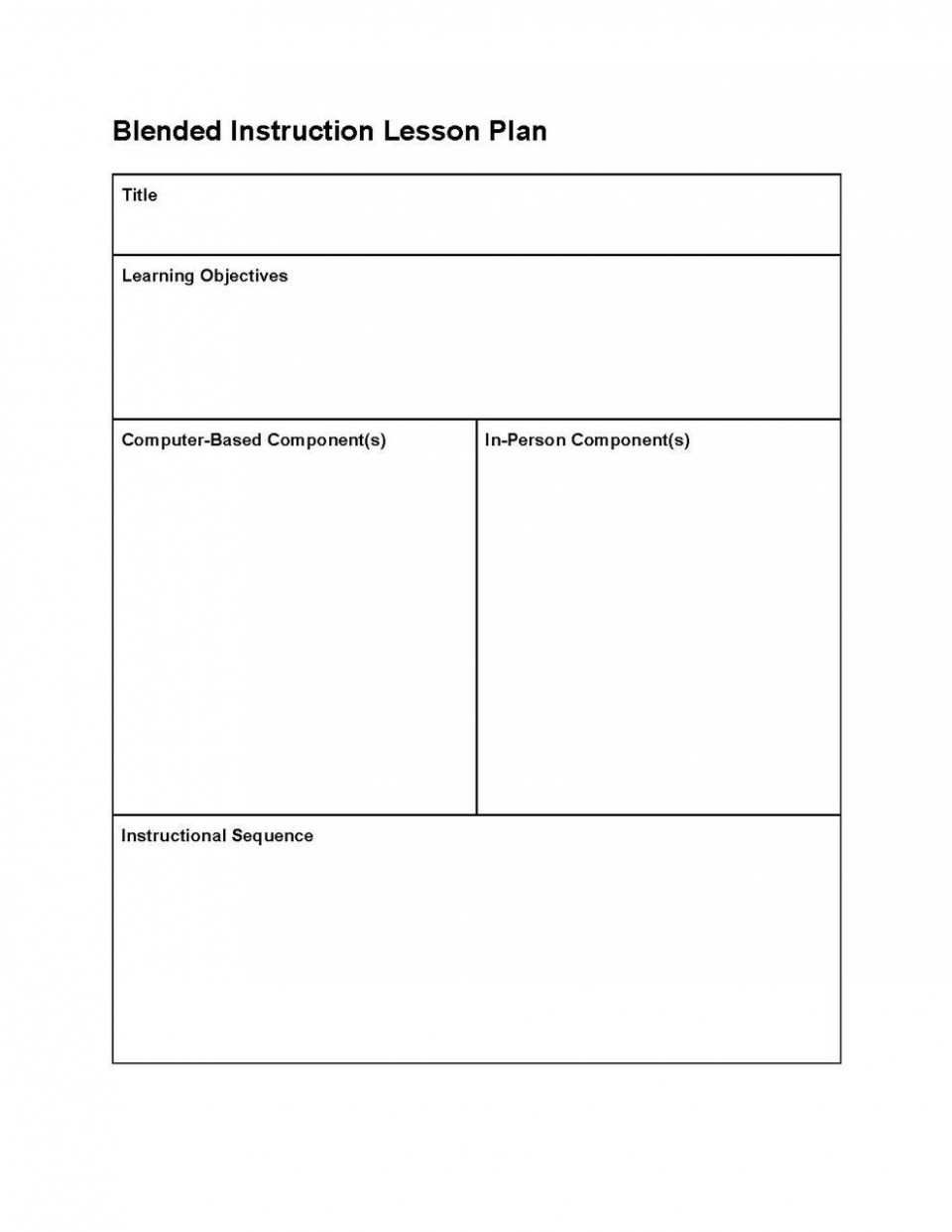 001 Fearsome Editable Lesson Plan Template Elementary Example 960