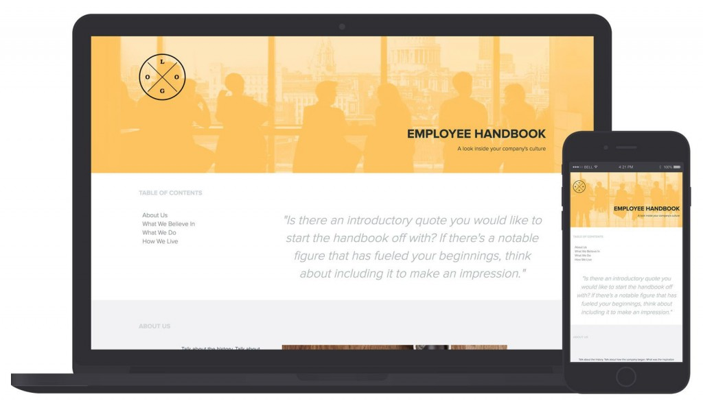 001 Fearsome Employee Handbook Template Free Design  Restaurant Download Induction Manual Sample In SingaporeLarge