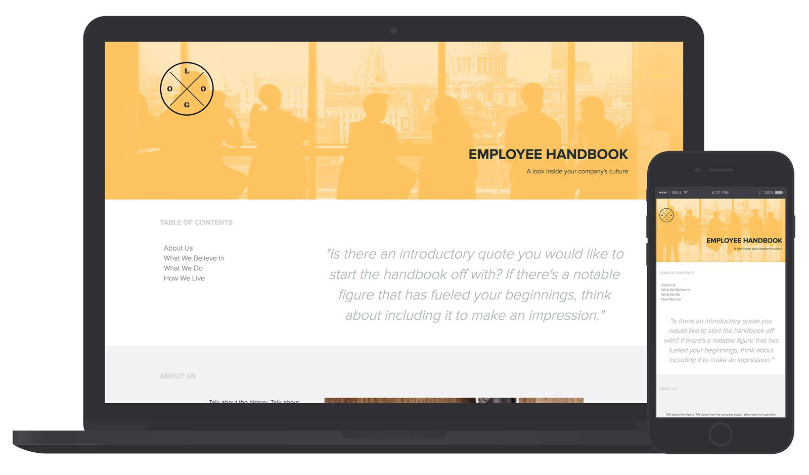 001 Fearsome Employee Handbook Template Free Design  Restaurant Download Induction Manual Sample In SingaporeFull