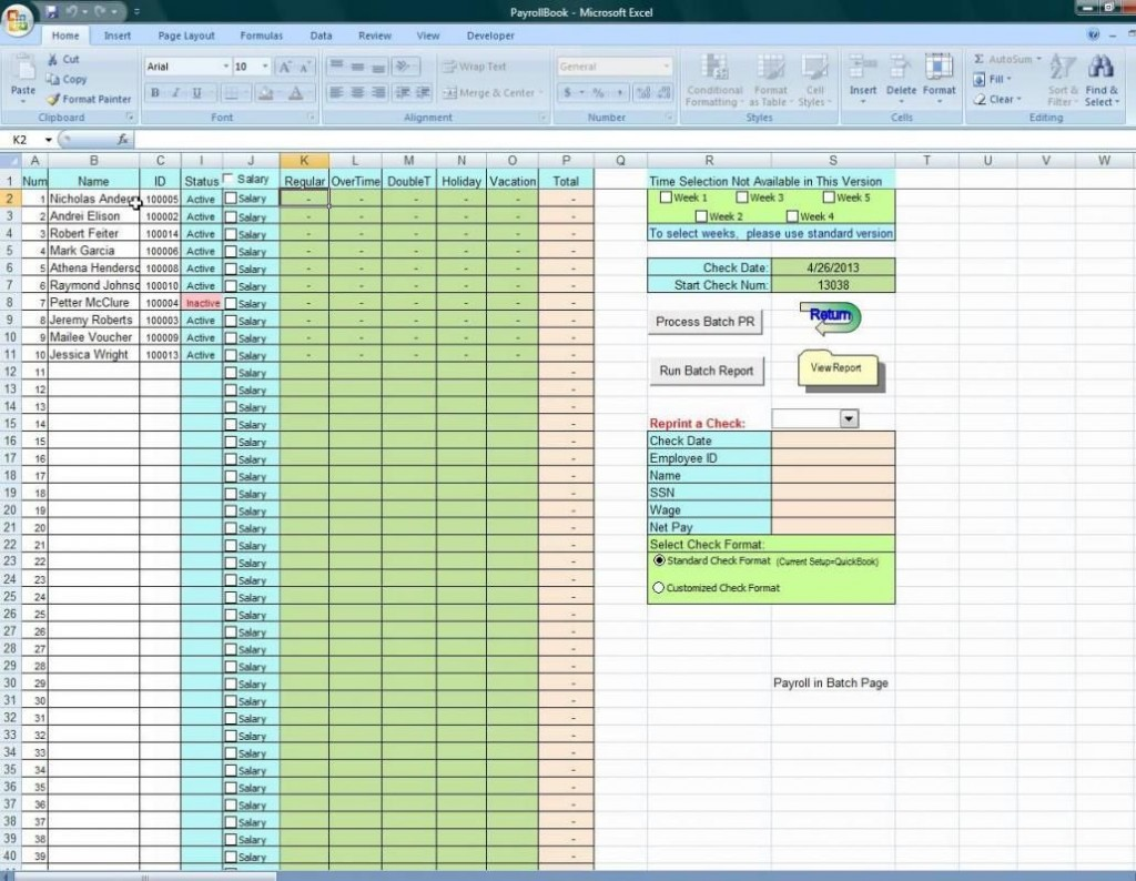 001 Fearsome Excel Payroll Template 2016 Design Large