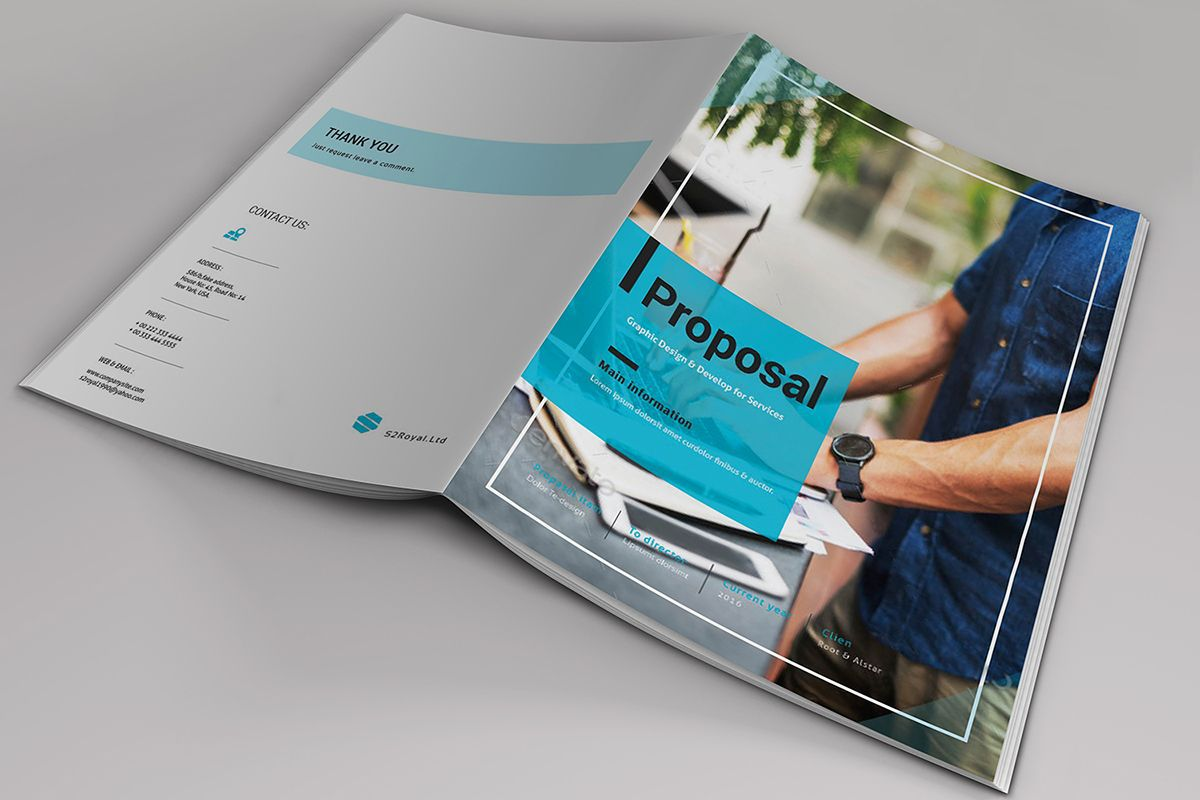 001 Fearsome Free Busines Proposal Template Indesign Sample Full