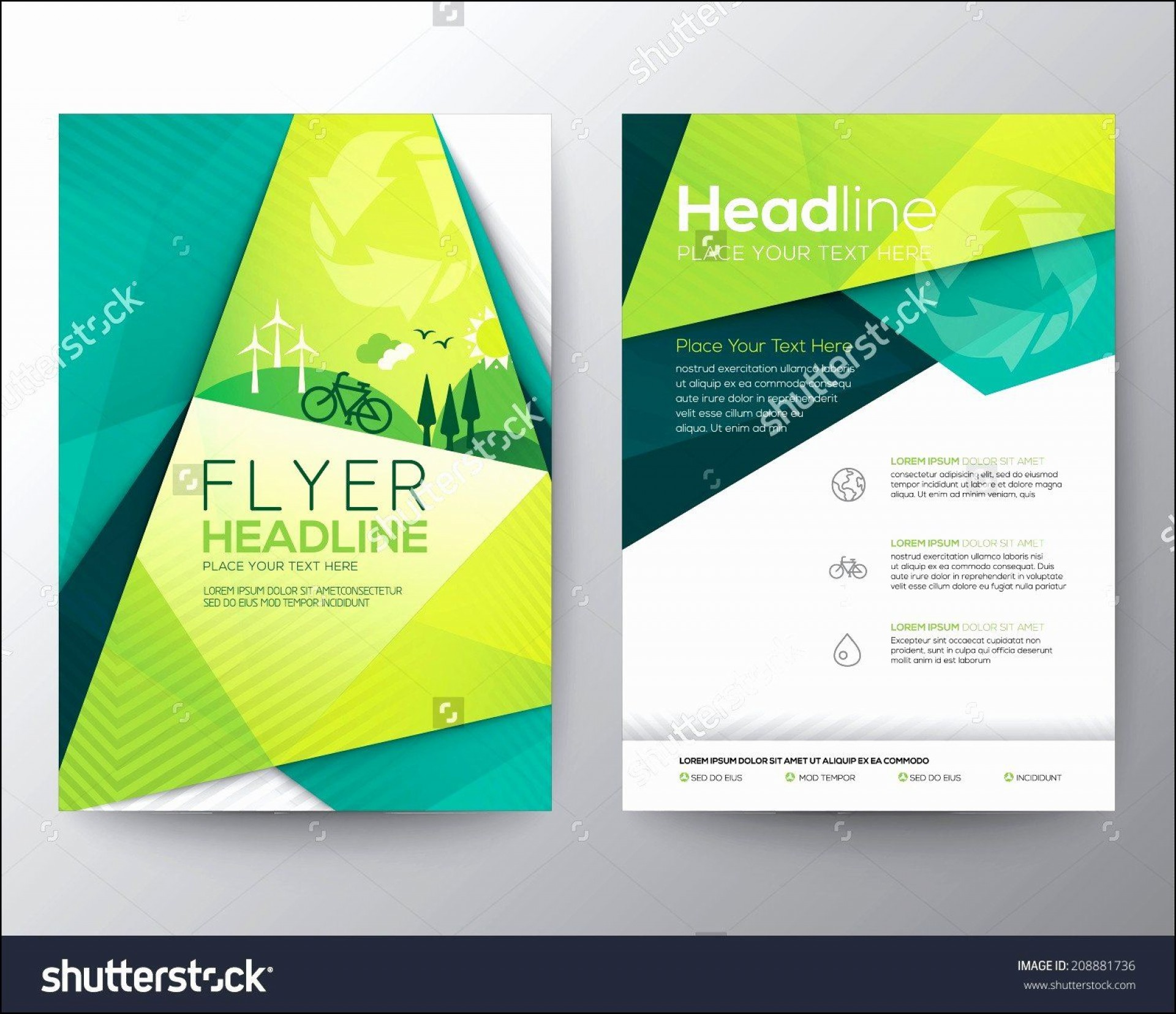 001 Fearsome Free Download Flyer Template Picture  Templates Blank Leaflet Word Psd1920