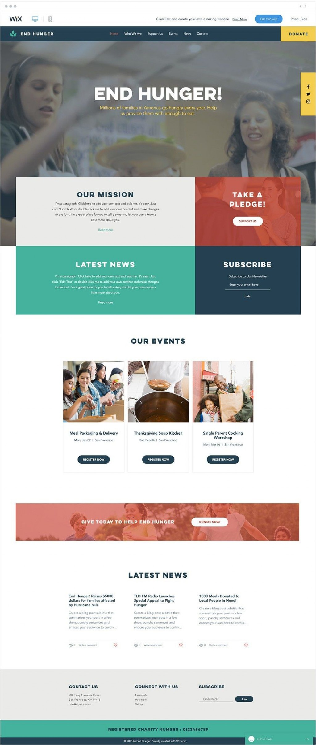 001 Fearsome Free Non Profit Website Template Inspiration  Templates Organization CharityLarge