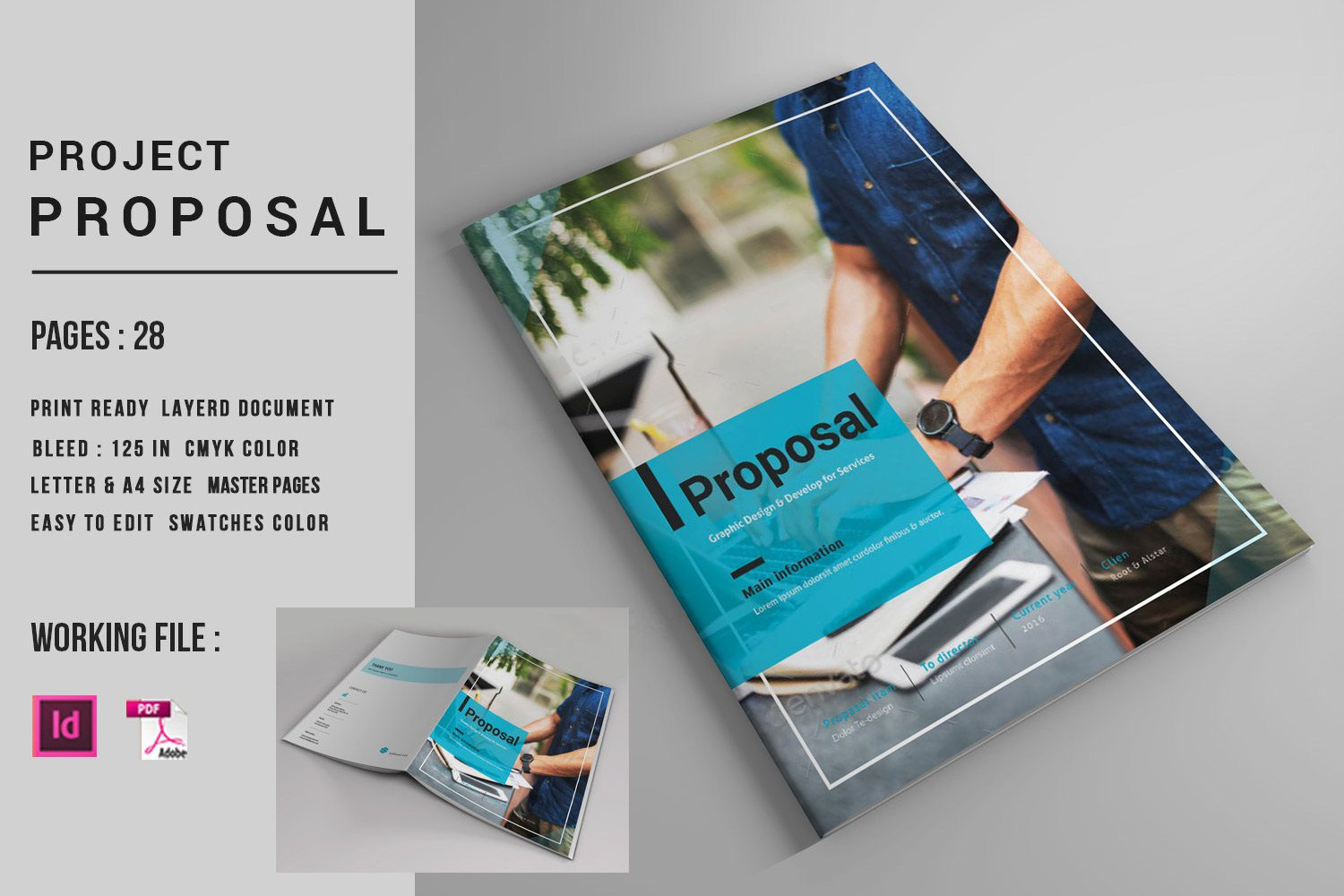 001 Fearsome Graphic Design Proposal Template Indesign Example  FreeFull