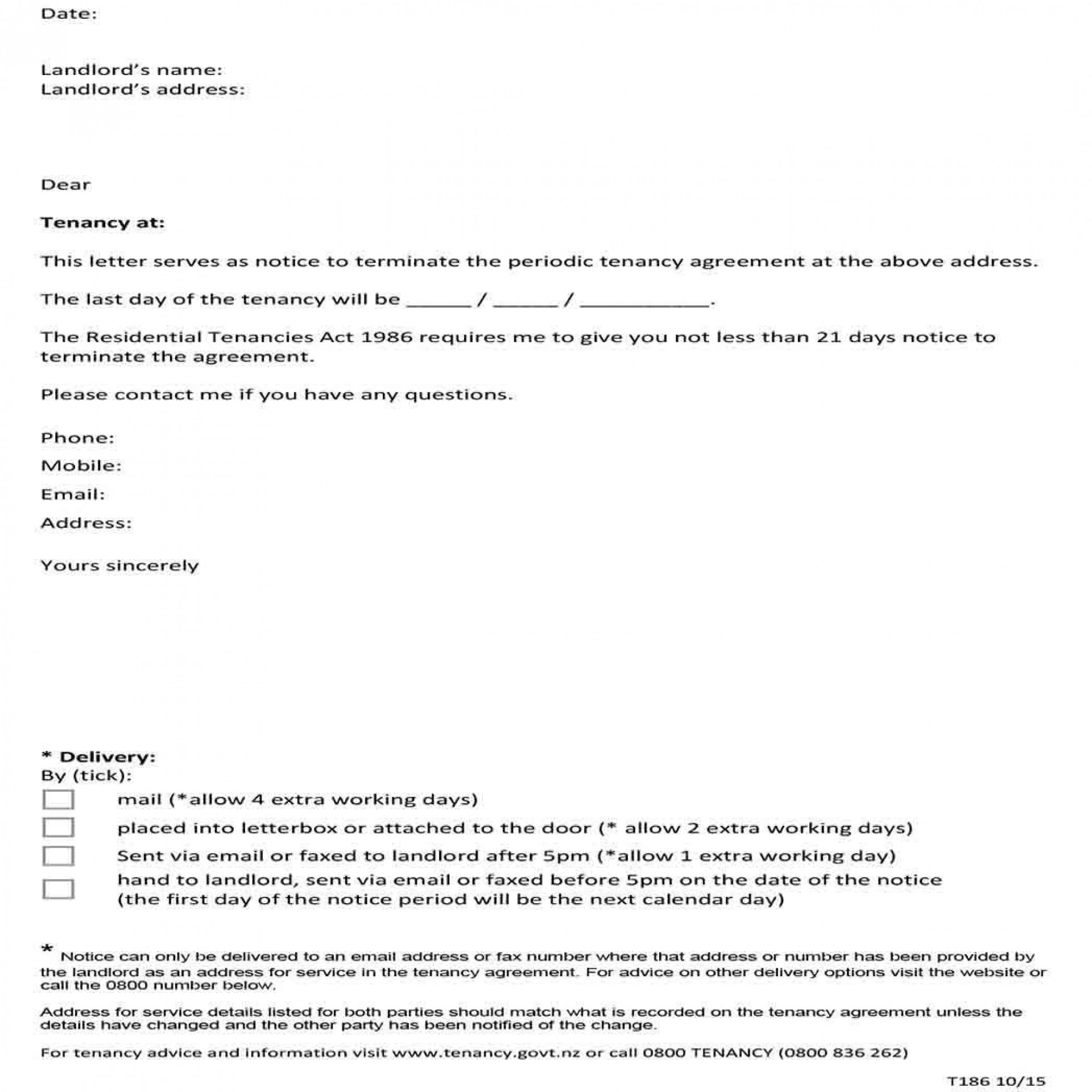 Termination Of Tenancy Letter From Tenant from www.addictionary.org