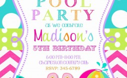 001 Fearsome Microsoft Word Pool Party Invitation Template High Definition  Templates