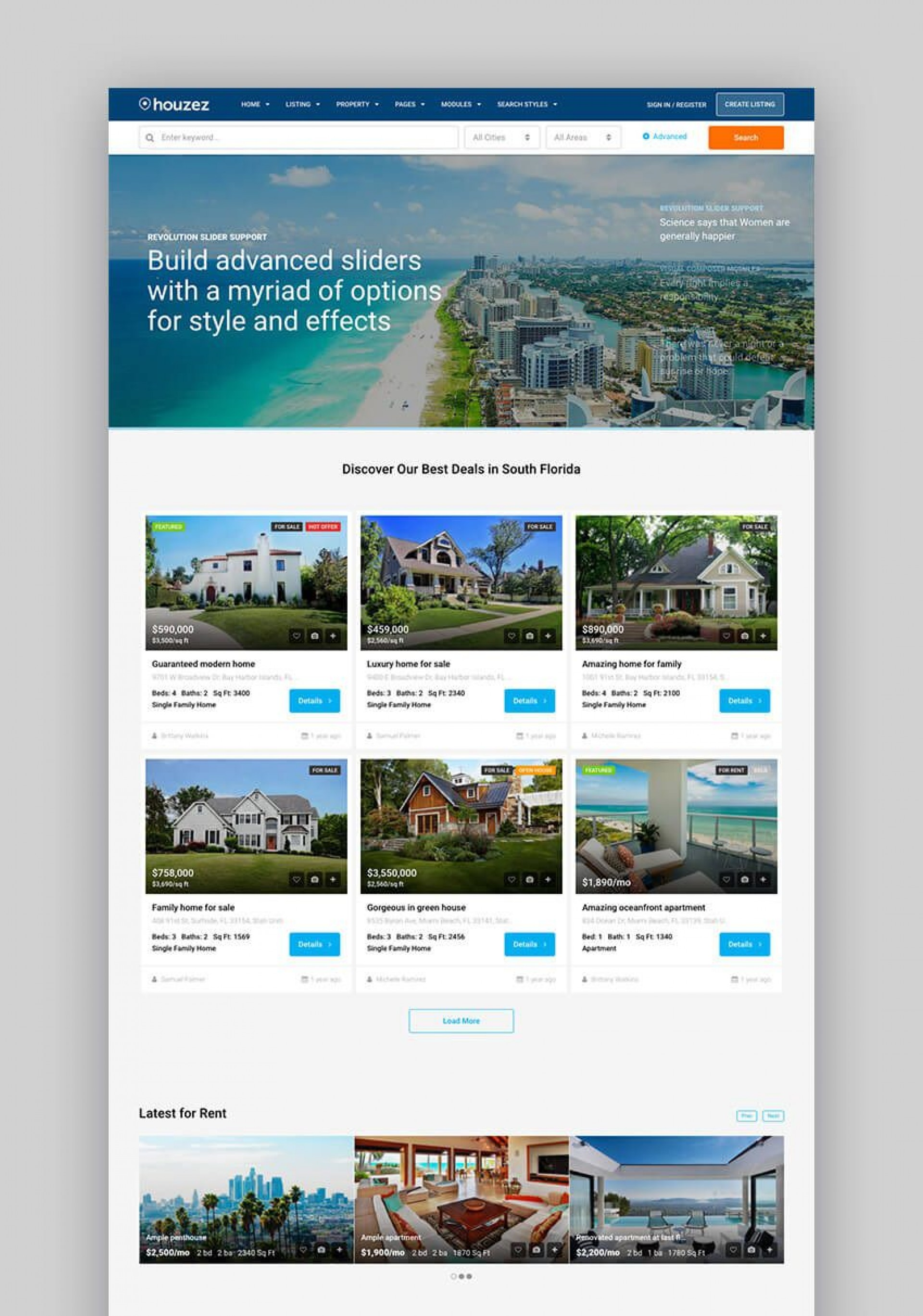 001 Fearsome Real Estate Template Wordpres Example  Homepres - Theme Free Download Realtyspace1920