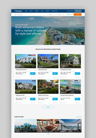 001 Fearsome Real Estate Template Wordpres Example  Homepres - Theme Free Download Realtyspace320