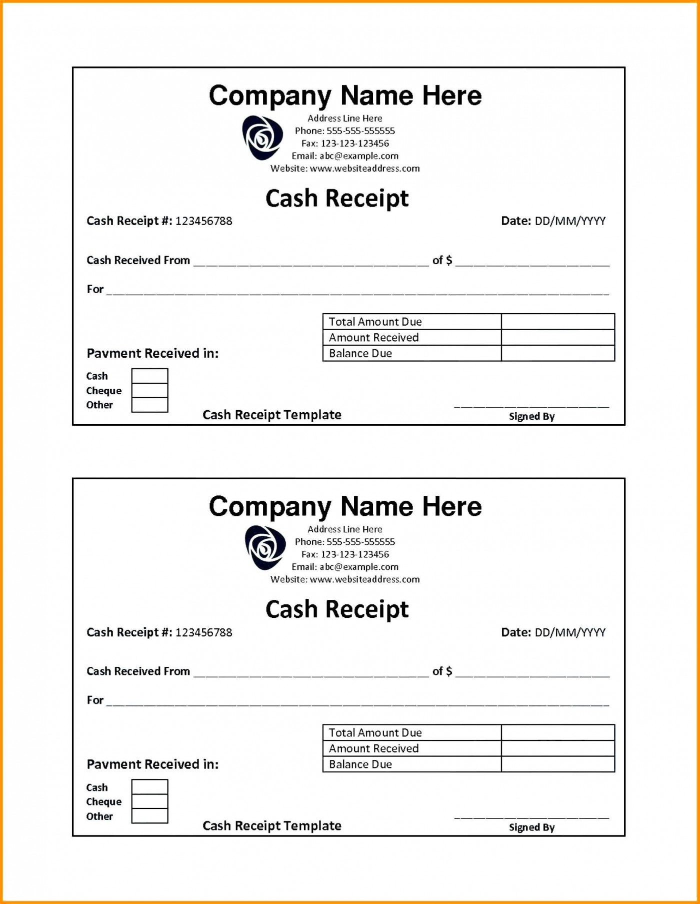 001 Fearsome Rent Receipt Template Doc India High Resolution  House1400