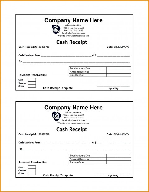 001 Fearsome Rent Receipt Template Doc India High Resolution  House480
