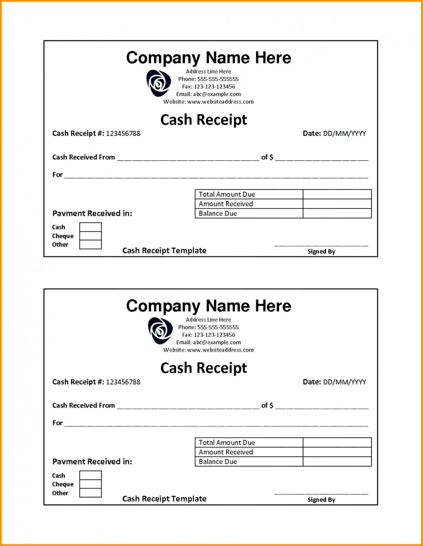 001 Fearsome Rent Receipt Template Doc India High Resolution  House868
