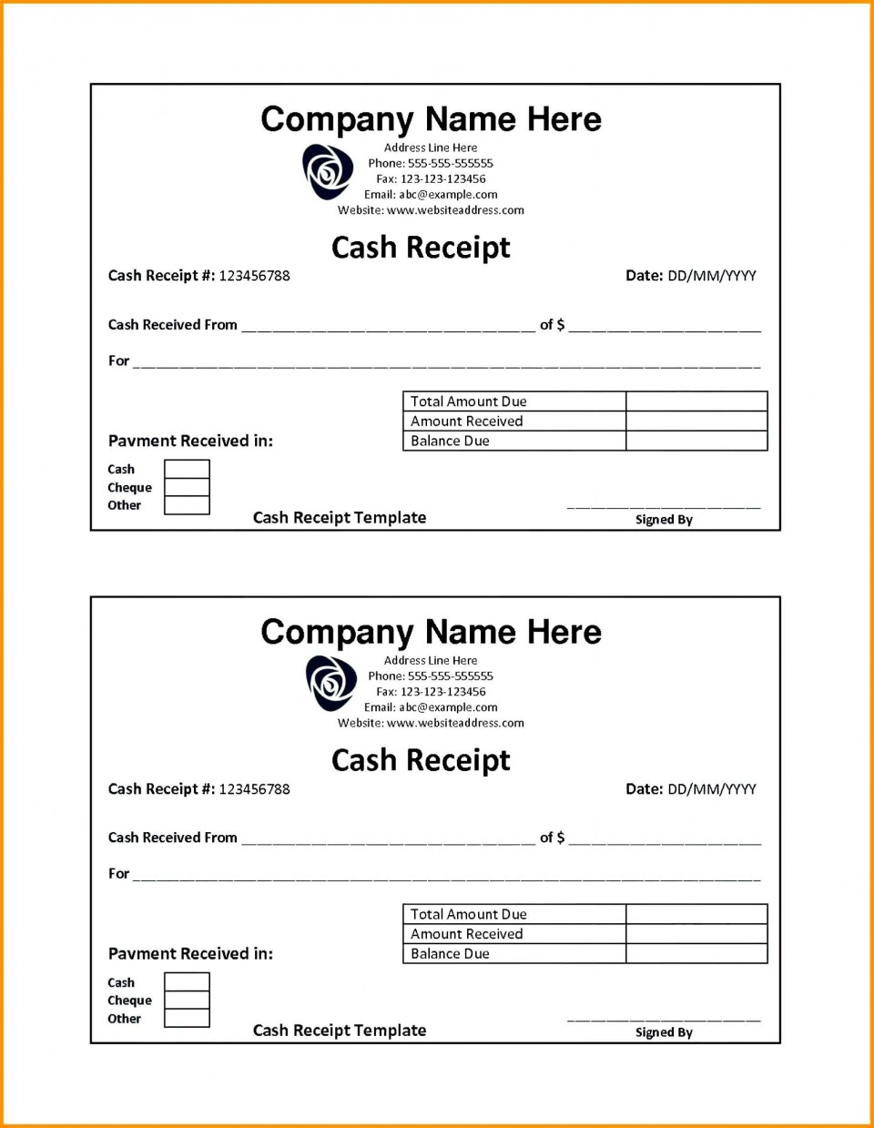 001 Fearsome Rent Receipt Template Doc India High Resolution  House960