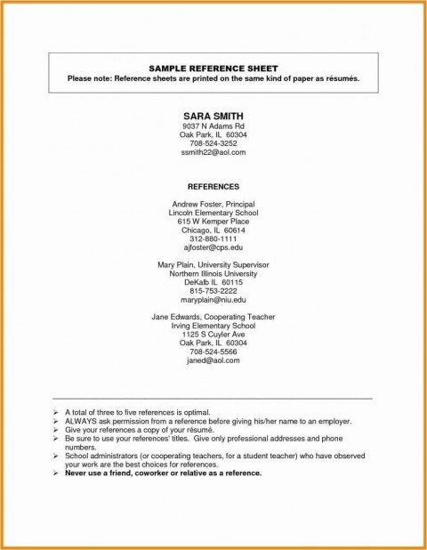 001 Fearsome Resume Reference List Template Microsoft Word High Resolution 480