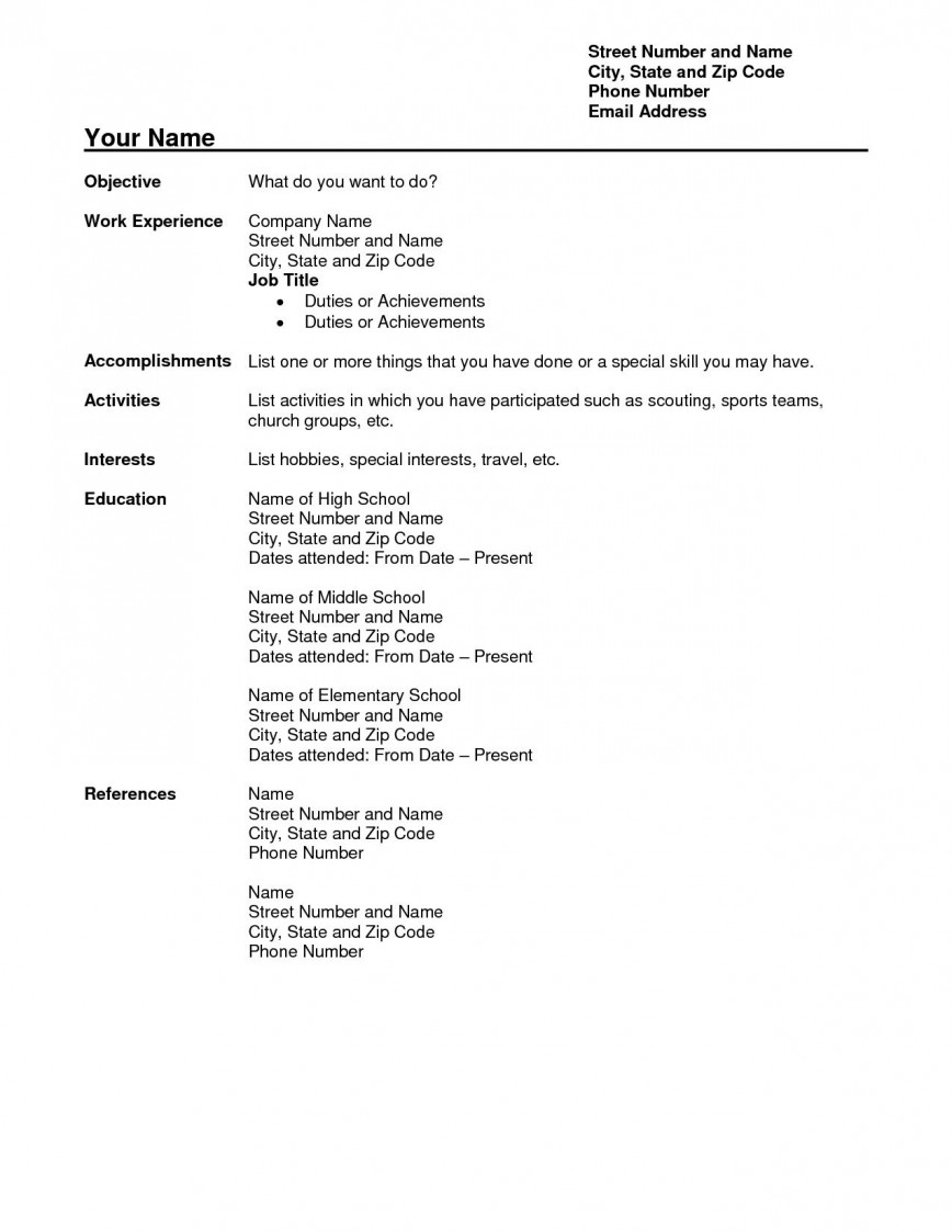 Resume Template In Word Addictionary
