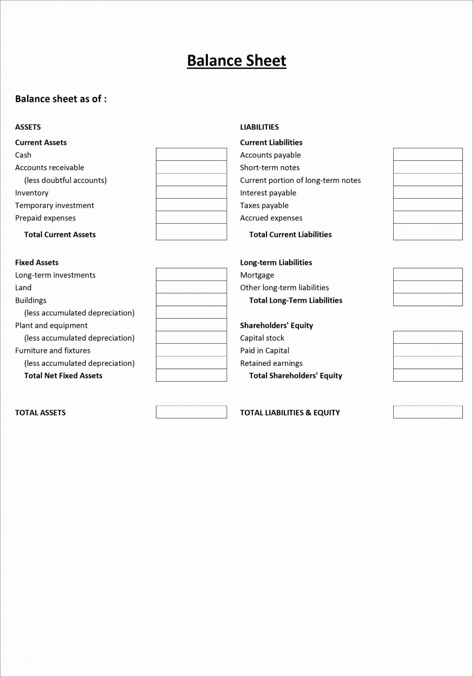 001 Fearsome Simple Balance Sheet Template Photo  Example For Small Busines Sample A Church960