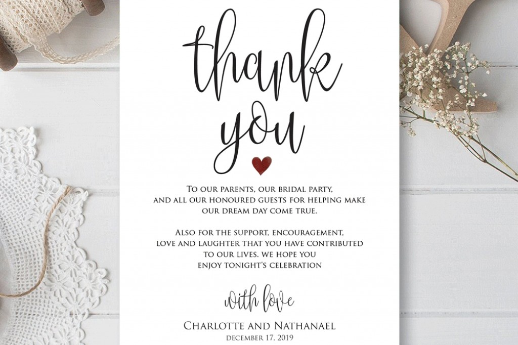 001 Fearsome Thank You Card Template Wedding High Definition  Free Printable PublisherLarge