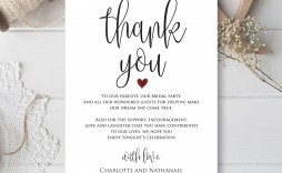 001 Fearsome Thank You Card Template Wedding High Definition  Free Printable Publisher