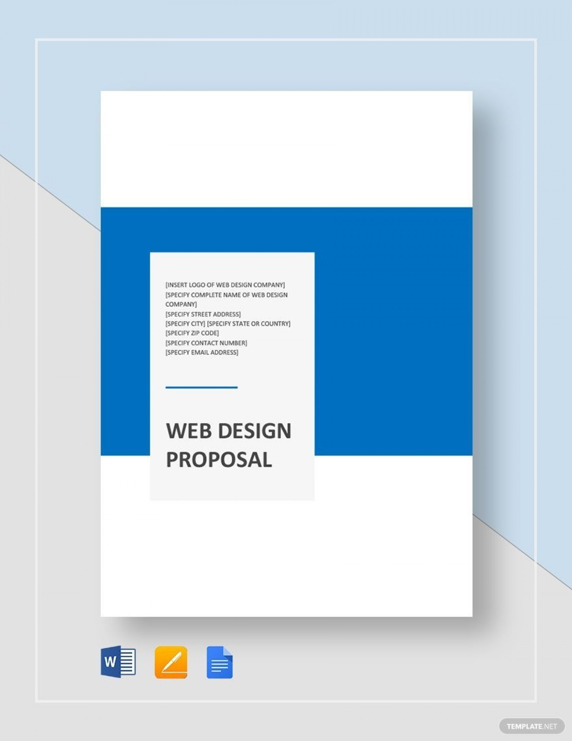 001 Fearsome Website Development Proposal Template Word Concept  Free1920