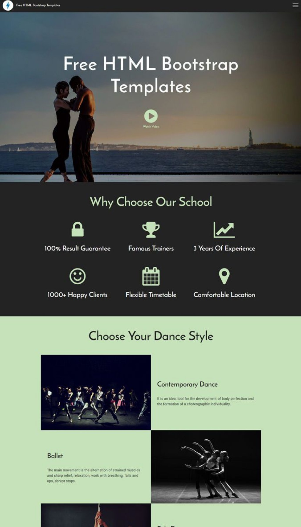 001 Fearsome Website Template Html Download Inspiration  Free With Cs Javascript Jquery Bootstrap Simple AndLarge