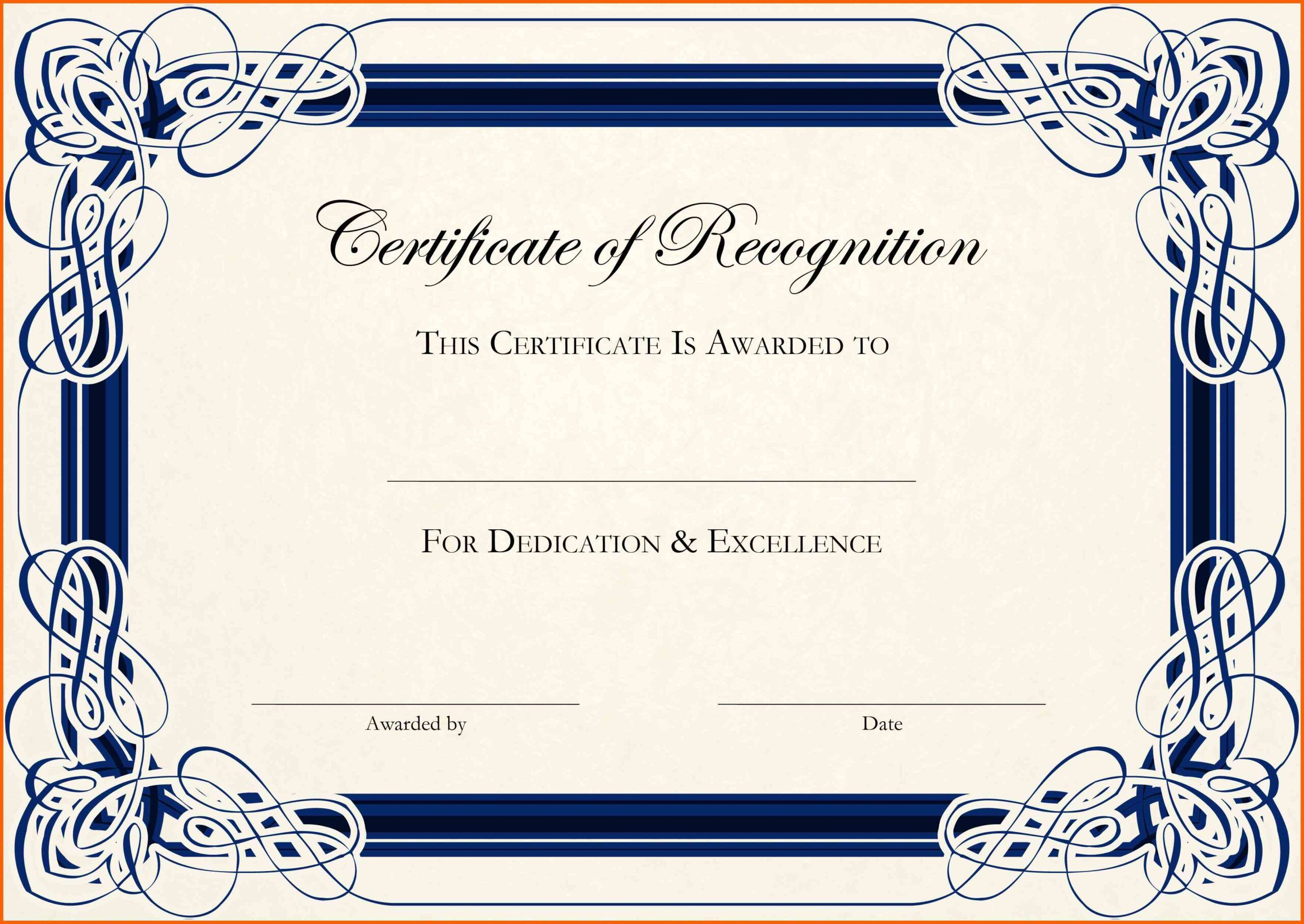 001 Formidable Certificate Template For Word Concept  Award 2007 MFull