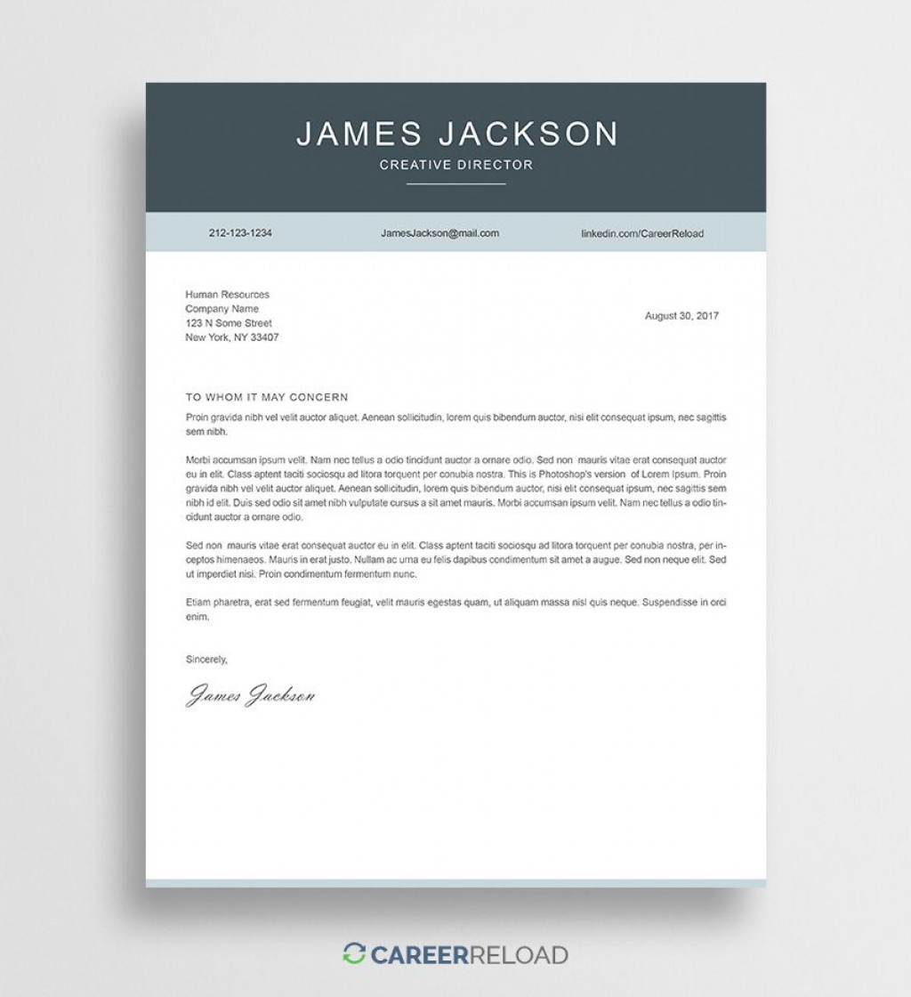 001 Formidable Cover Letter Free Template Image  Download Word DocLarge