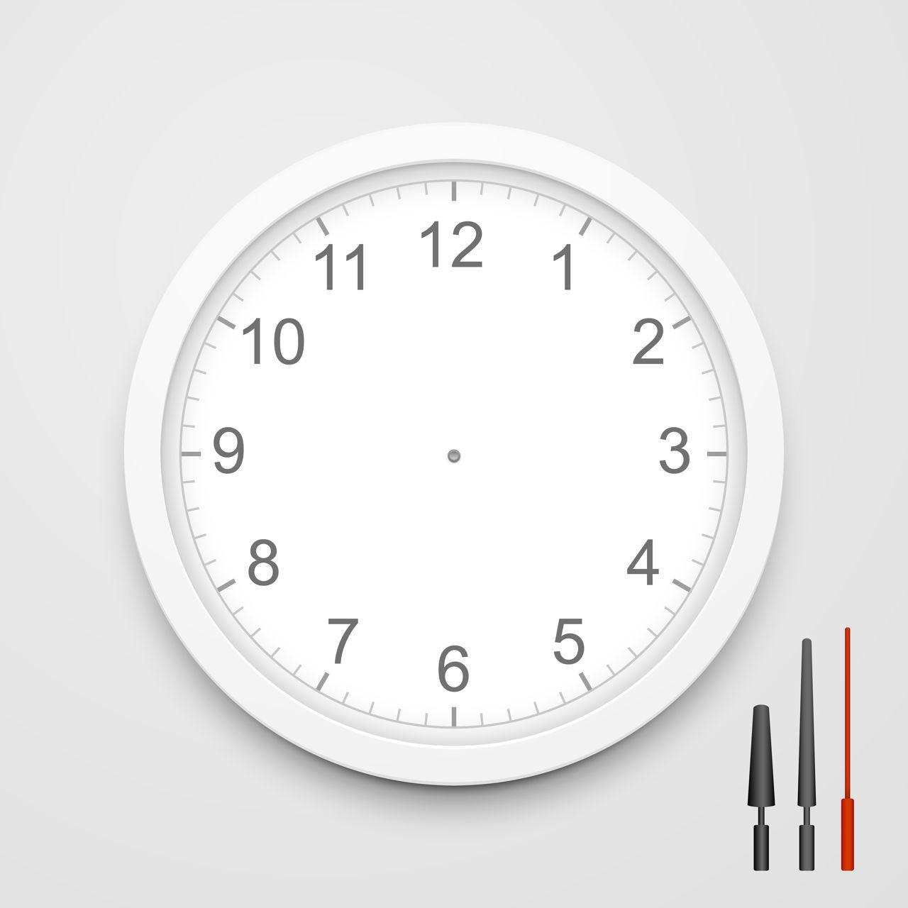 001 Formidable Customizable Clock Face Template Photo Full
