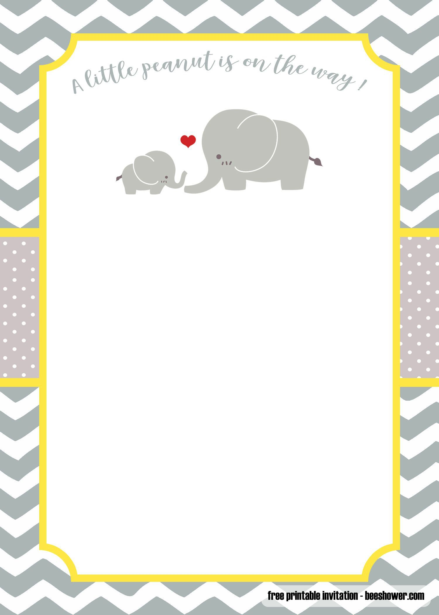 001 Formidable Elephant Girl Baby Shower Invitation Template Example  Templates PinkFull