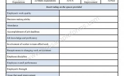 001 Formidable Employee Evaluation Form Template Example  Word Self Free