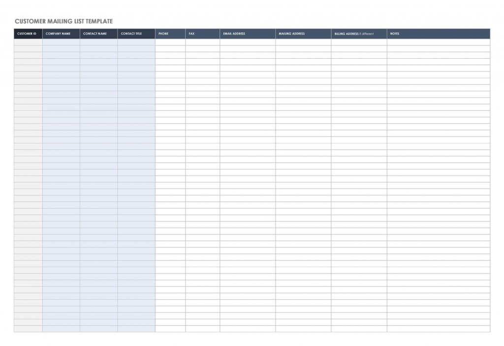 001 Formidable Excel Customer List Template High Def  ContactLarge