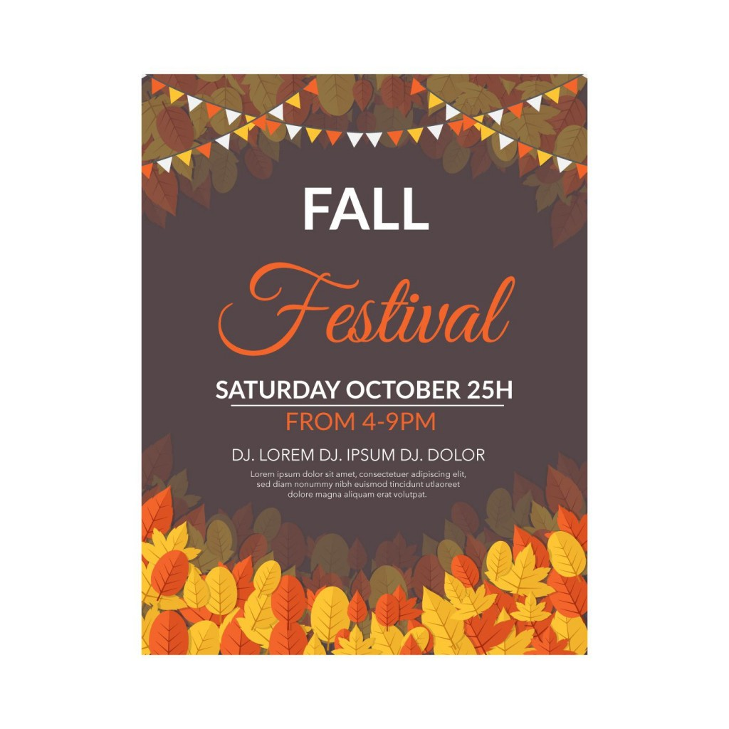 001 Formidable Fall Festival Flyer Template Design  FreeLarge