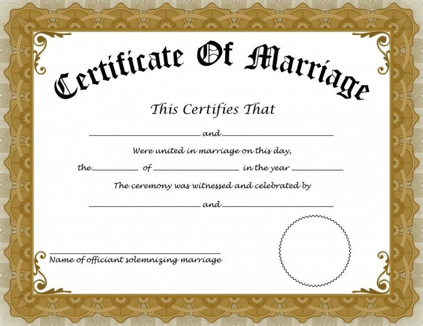 001 Formidable Free Marriage Certificate Template Inspiration  Online Translation Wedding Download