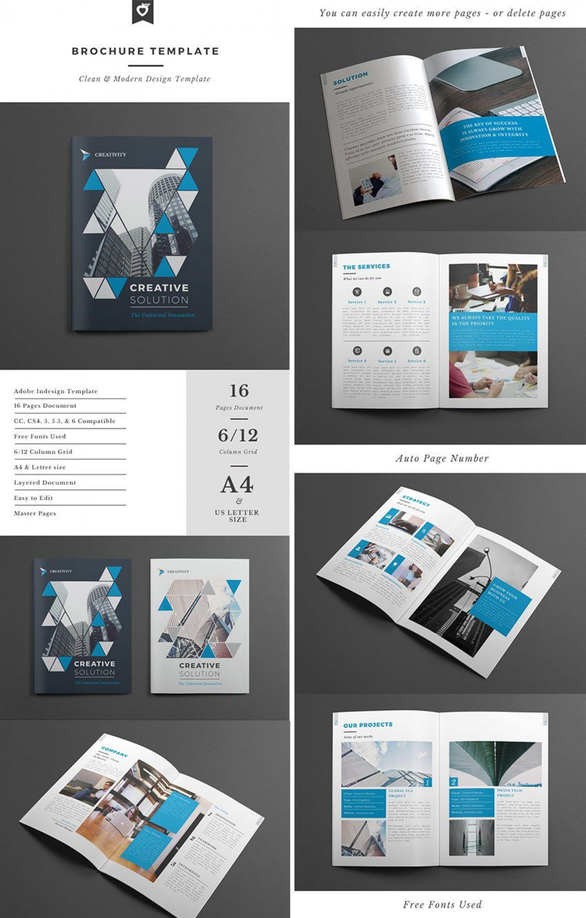 001 Formidable Indesign A4 Brochure Template Free Download Picture Full