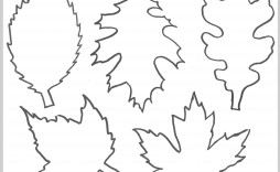001 Formidable Leaf Template With Line Photo  Lines Writing Printable