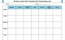 001 Formidable Lesson Plan Template Free Example  Weekly Printable Editable Preschool Format