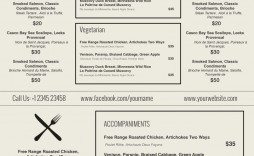 001 Formidable Menu Template Free Download Word Image  Dinner Party Wedding
