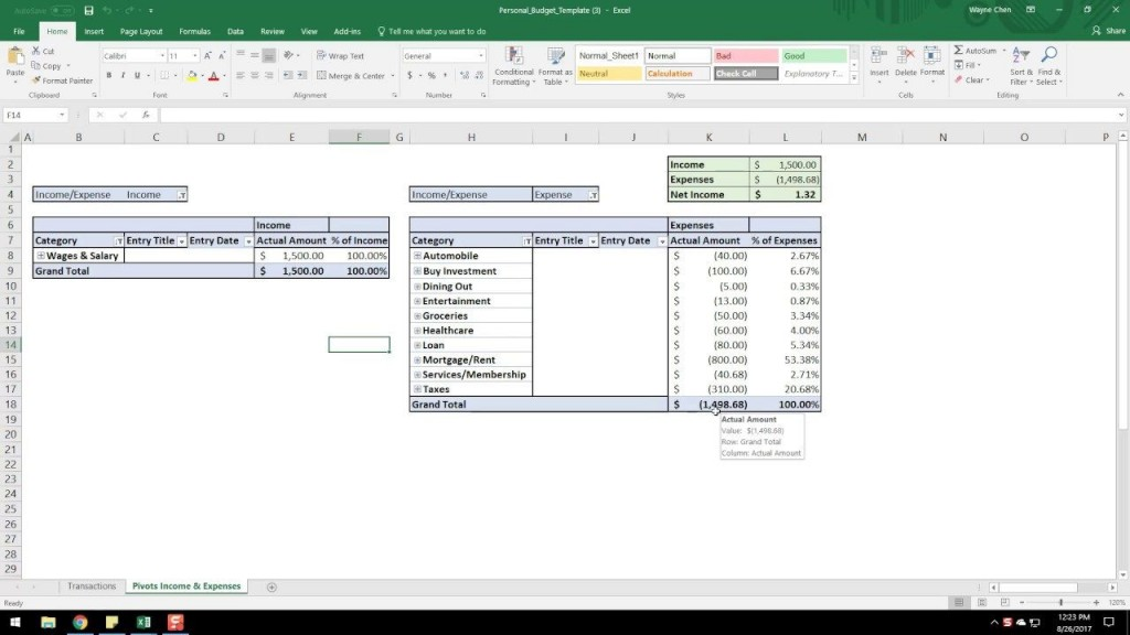 001 Formidable Microsoft Excel Weekly Cash Flow Template High Resolution  ForecastLarge