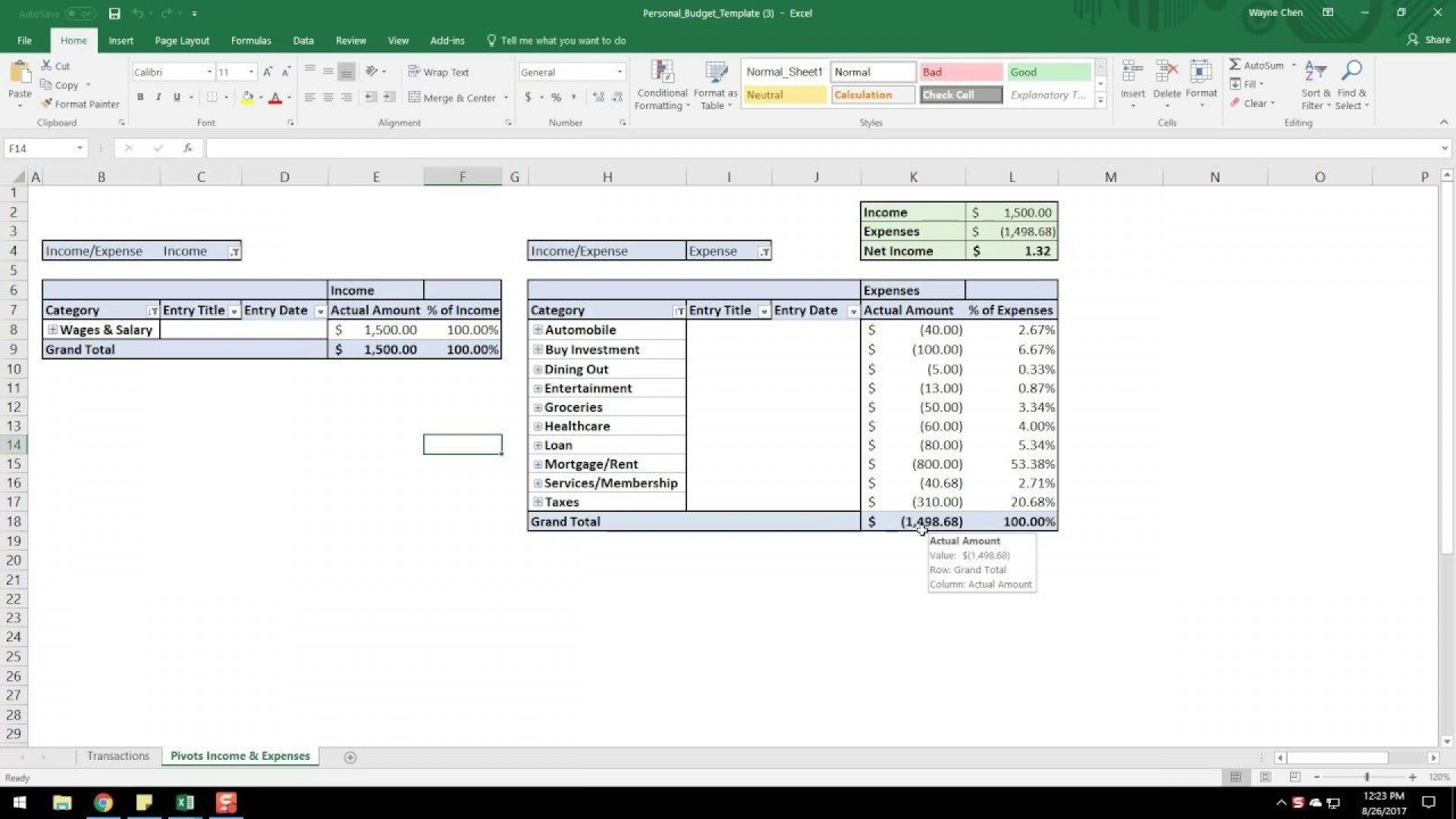 001 Formidable Microsoft Excel Weekly Cash Flow Template High Resolution  Forecast1920
