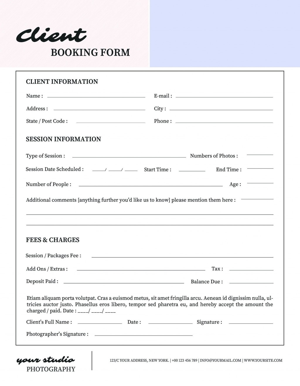 001 Formidable New Client Form Template Design  Accounting Free Customer PdfLarge
