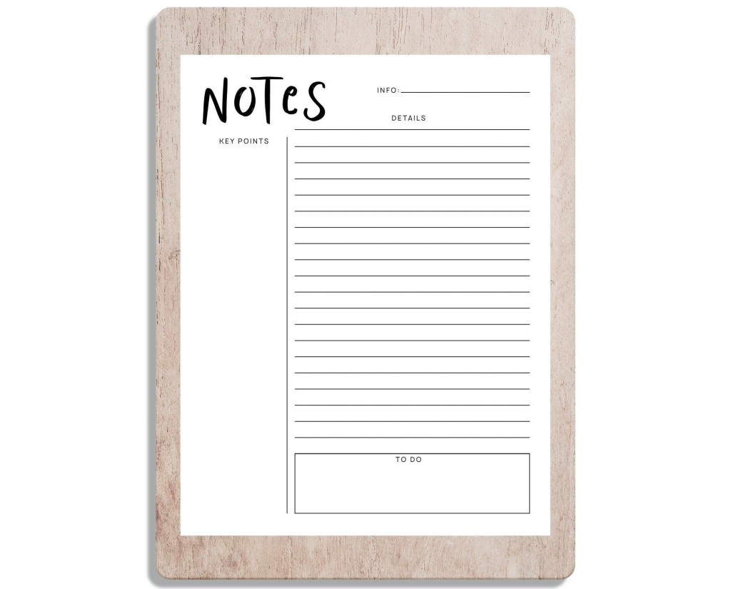 001 Formidable Note Taking Template Pdf High Resolution  Free Cornell ExampleLarge