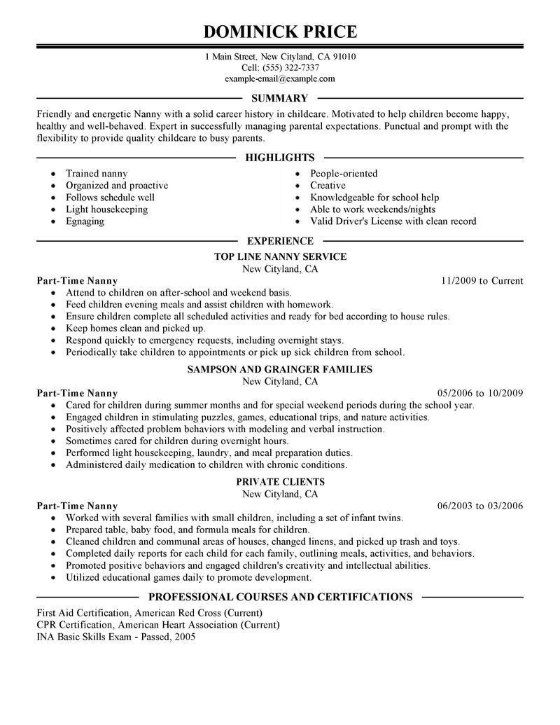 001 Formidable Part Time Job Resume Template Sample  Student Summary ExampleFull