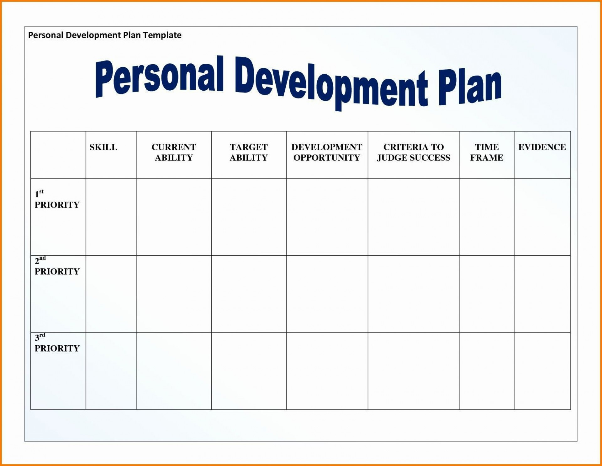 001 Formidable Personal Development Plan Template Pdf Photo  Sample For Student Leadership Example1920