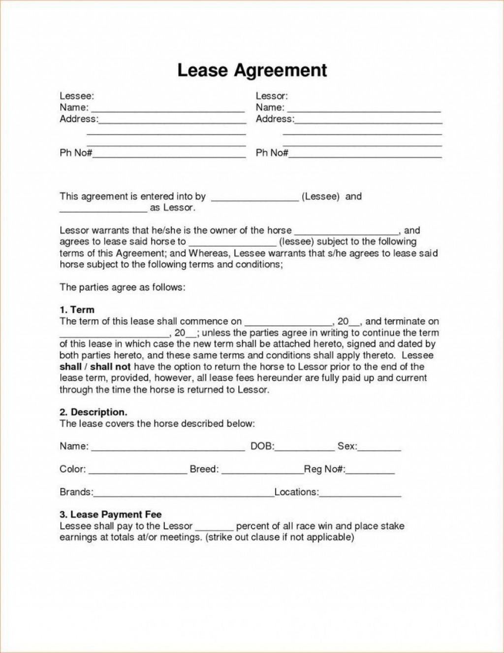 001 Formidable Rent To Own Lease Template High Def  Example Agreement AlbertaLarge