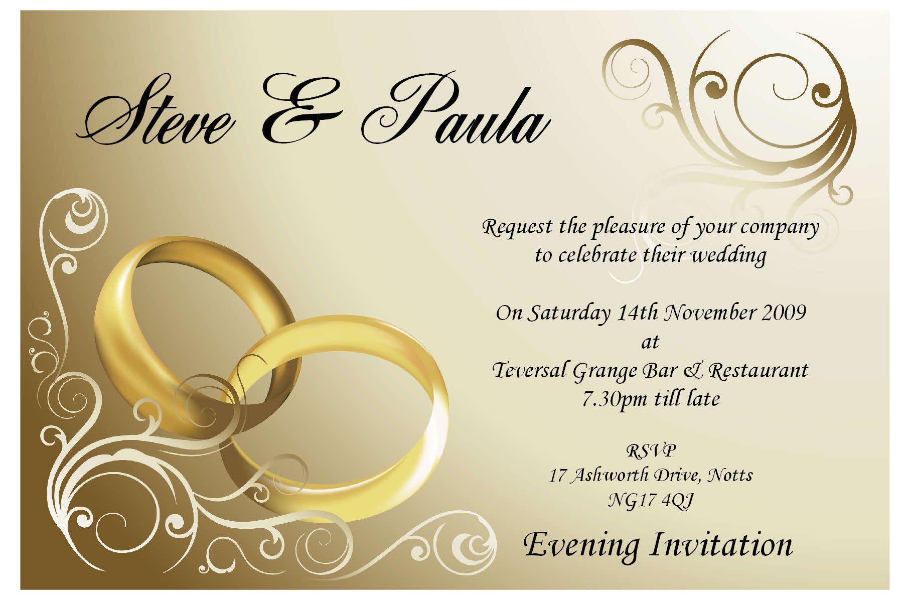 001 Formidable Sample Wedding Invitation Card Template High Resolution  Templates Free Design Response WordingFull