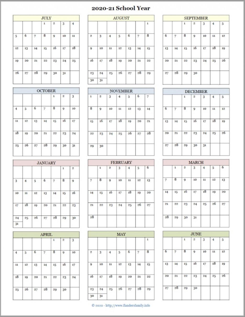 001 Formidable School Year Calendar Template Idea  Excel 2019-20 WordLarge