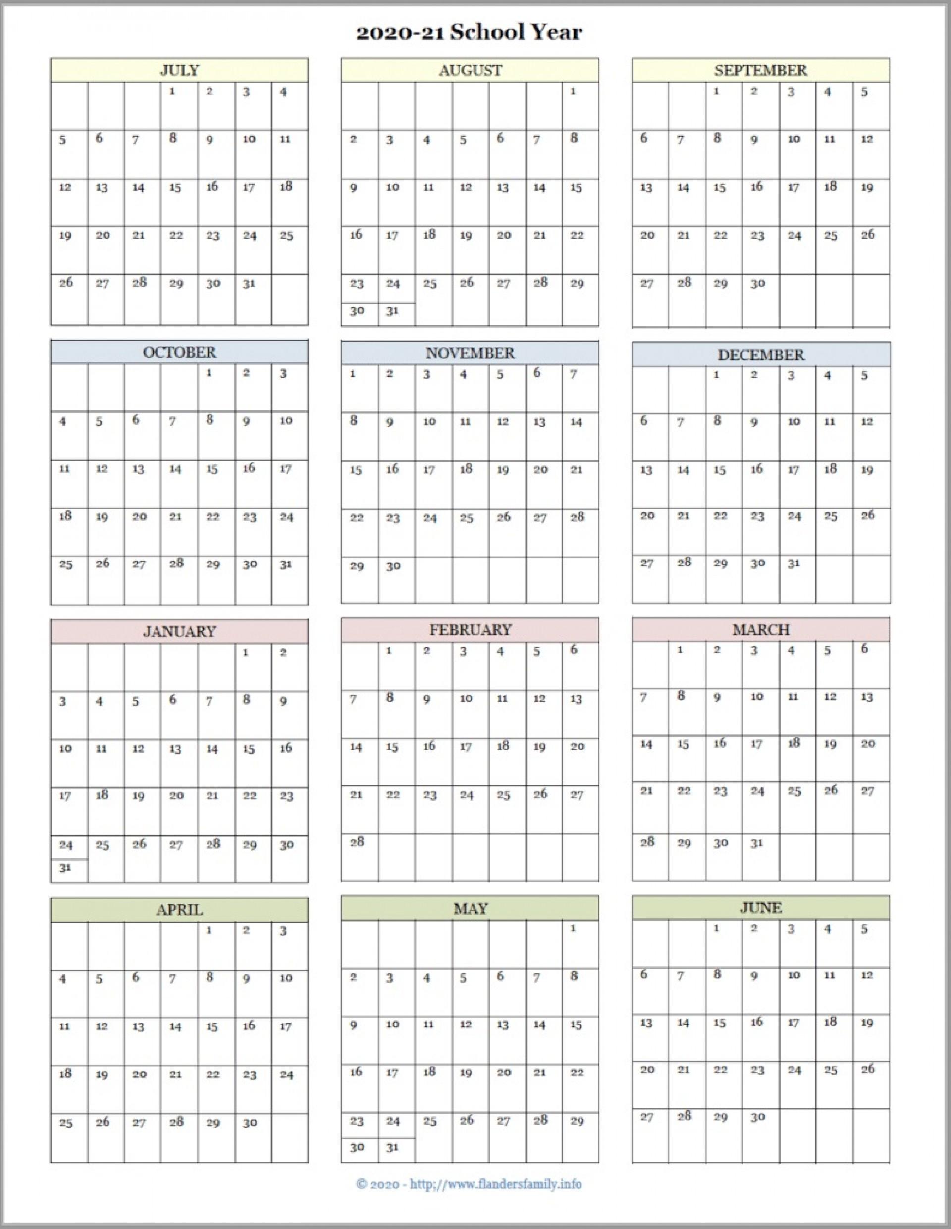 001 Formidable School Year Calendar Template Idea  Excel 2019-20 Word1920