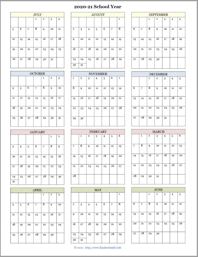 001 Formidable School Year Calendar Template Idea  Excel 2019-20 WordFull