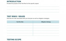 001 Formidable Simple Application Test Plan Template Highest Quality  Word Software Excel