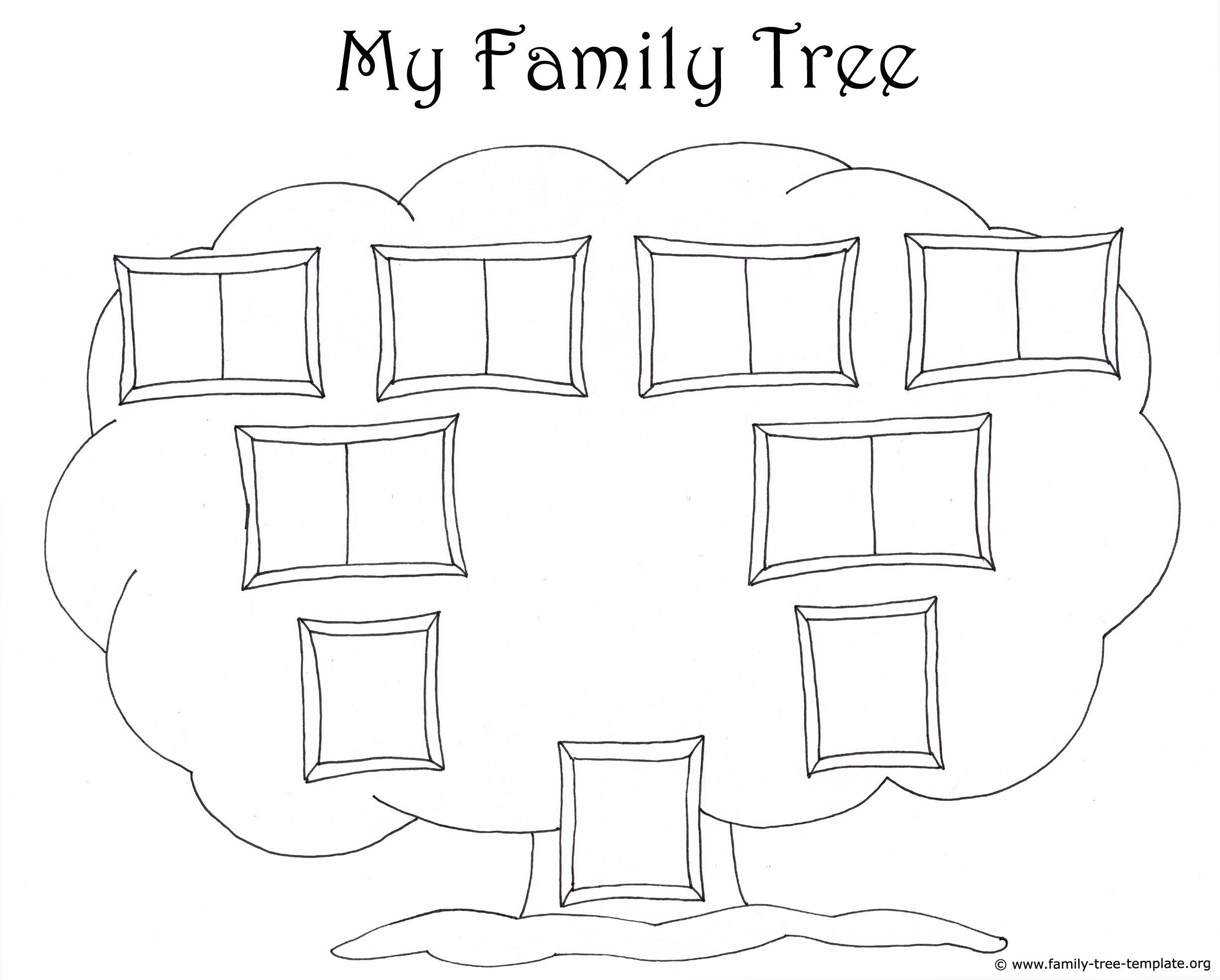 Simple Family Tree Template from www.addictionary.org