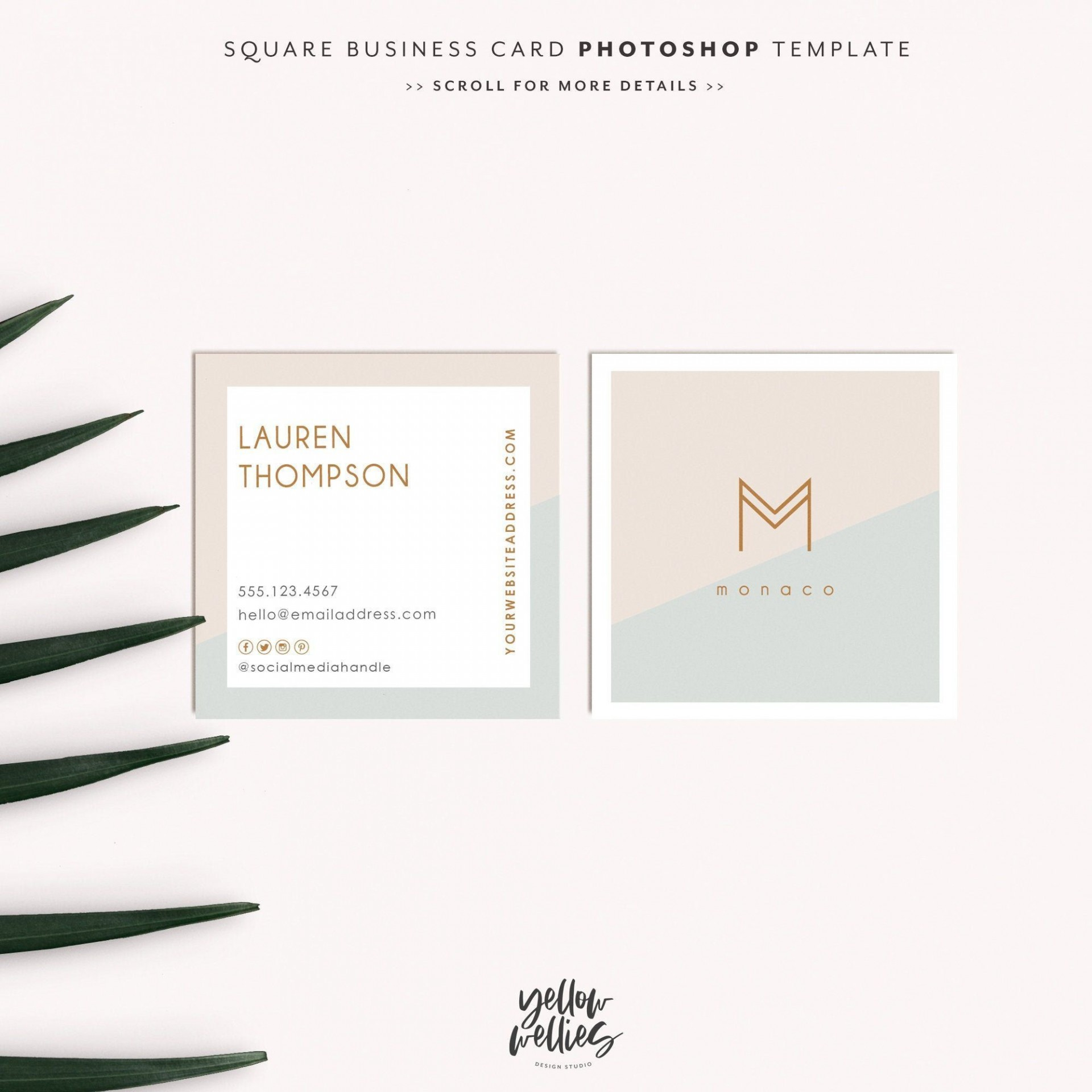 001 Formidable Square Busines Card Template Example  Free Download Photoshop1920
